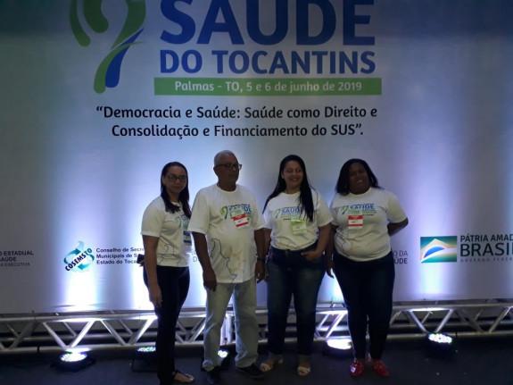 Rosimar acompanhada dos Conselheiros Municipais: Valdomiro, Luciene e Alline